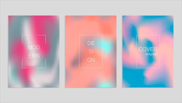 Minimale abstracte vector fuid dekking ontwerpsjabloon. holografie verloop achtergrond. vectorsjablonen voor posters, banners, flyers, presentaties en rapporten