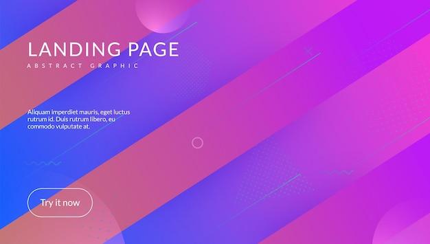 Minimale achtergrond. kleurrijke achtergrond. vloeibare poster. digitaal element. roze memphis-banner. technische bestemmingspagina. levendig papier. golvende dynamische dekking. magenta minimale achtergrond