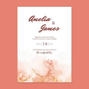 Minimale aquarel bruiloft kaart