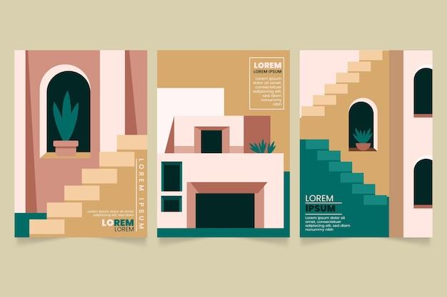 Minimale architectuur covers ingesteld