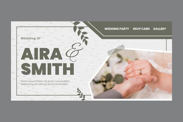 Minimale bestemmingspagina voor bruiloft
