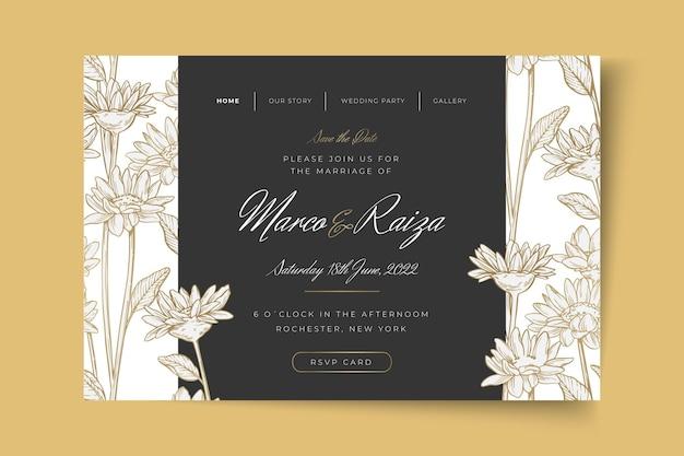 Minimale bestemmingspagina voor bruiloften