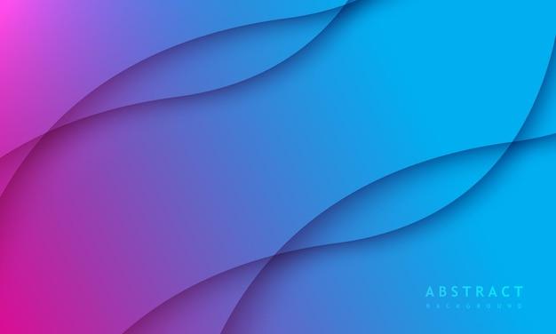 Minimale blauwe achtergrond met kleurovergang