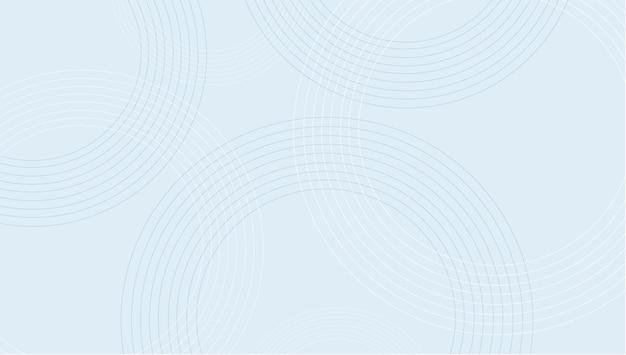 Minimale blauwe cirkel achtergrond vectorillustratie