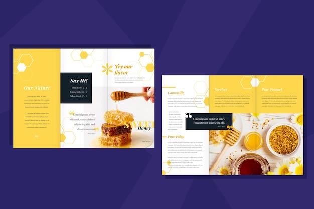 Minimale brochuremalplaatje met foto
