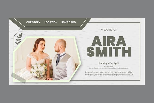 Minimale bruiloft bestemmingspagina sjabloon