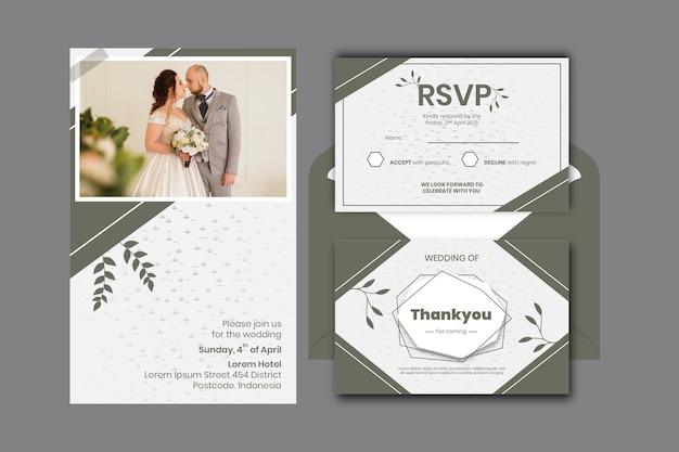 Minimale bruiloft briefpapier set