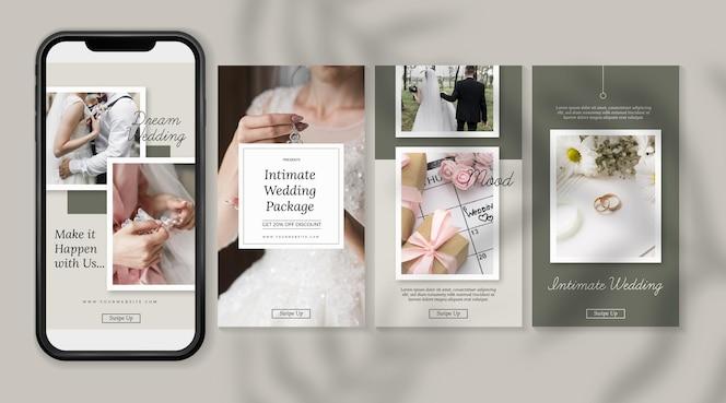 minimale bruiloft instagramverhalen