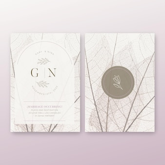 Minimale bruiloft kaartsjabloon