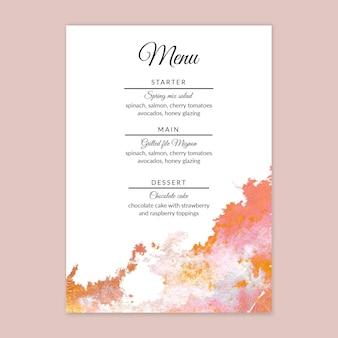 Minimale bruiloft menusjabloon
