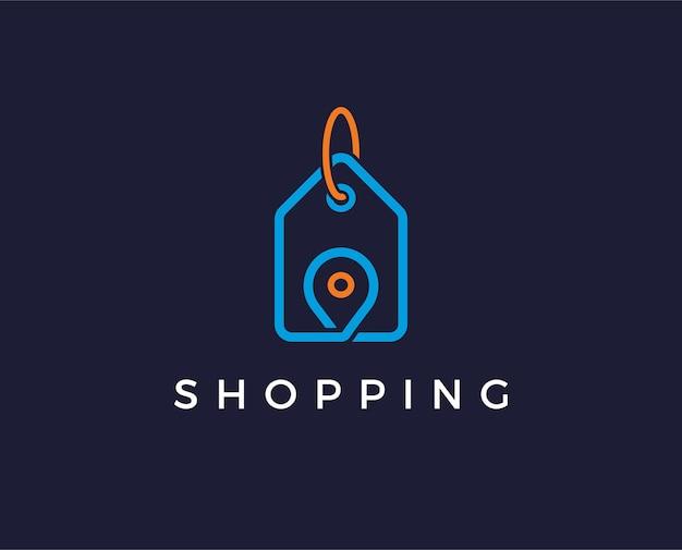Minimale cadeauwinkel logo sjabloon
