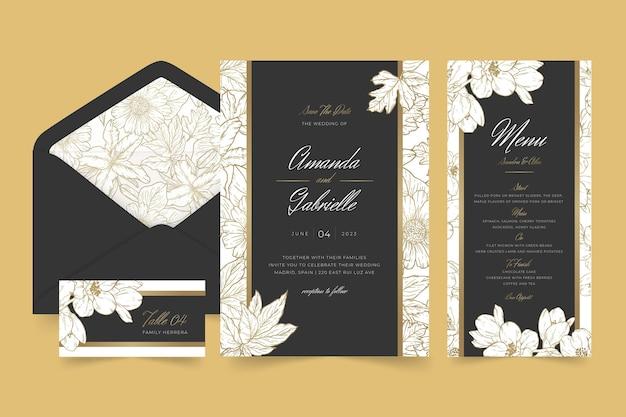 Minimale collectie briefpapier voor bruiloften