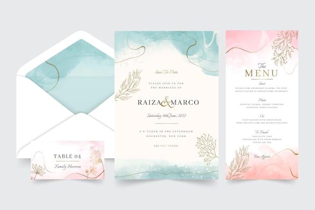 Minimale collectie bruiloft briefpapier