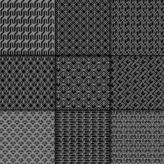 Minimale collectie geometrische patronen