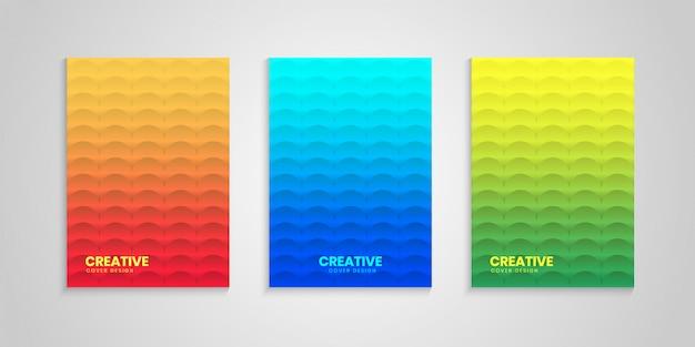 Minimale cover design set met verloop achtergrond