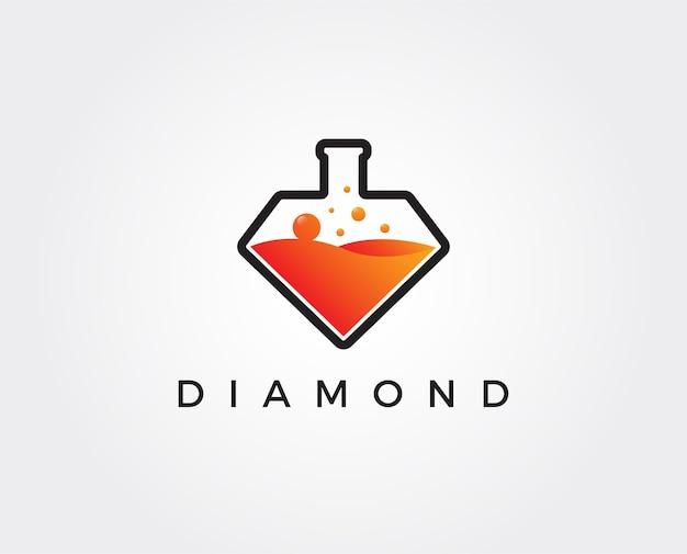 Minimale diamanten lab-logo sjabloon