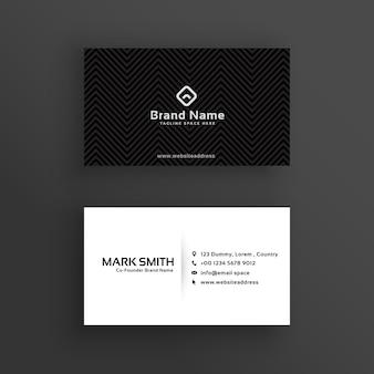 Minimale donkere visitekaartje ontwerpsjabloon