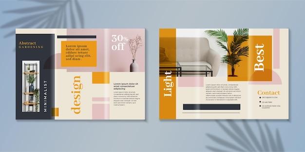 Minimale driebladige brochuremalplaatje met foto