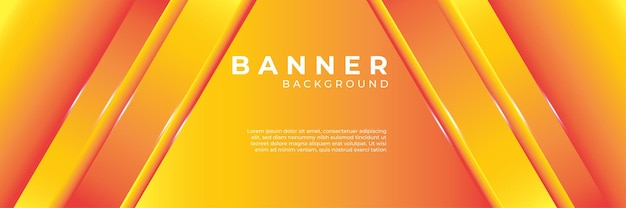 Minimale dynamische oranje gele achtergrond verloop. abstracte creatieve technologie digitale achtergrond, moderne bestemmingspagina concept vector.