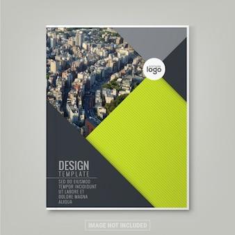 Minimale eenvoudige groene kleur ontwerp sjabloon achtergrond voor het bedrijfsleven jaarverslag boekomslag brochure flyer poster