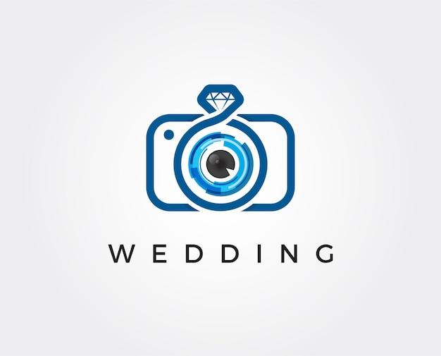 Minimale fotografie logo sjabloon