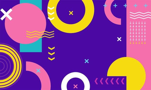 Minimale geometrische achtergrond met dynamische vormencompositie