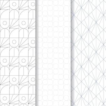 Minimale geometrische naadloze patroon sjabloon