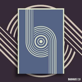 Minimale geometrische ontwerpachtergrond