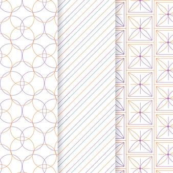 Minimale geometrische patroon collectie concept