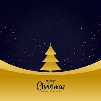 Minimale gouden vrolijke kerstmis begroetende achtergrond