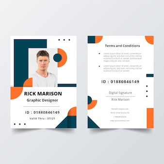 Minimale id-kaarten sjabloon concept