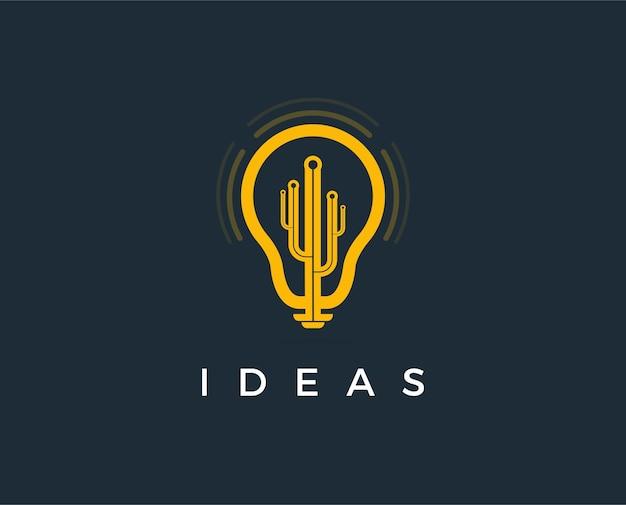 Minimale idee logo sjabloon illustratie