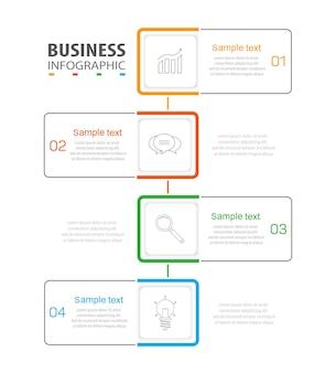 Minimale infographic ontwerpsjabloon met 4 opties