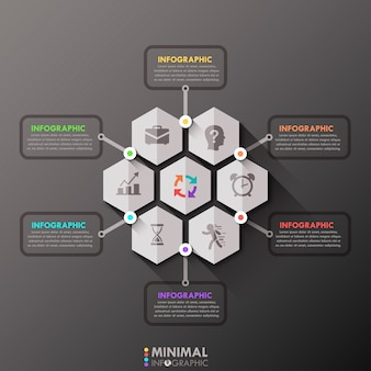 Minimale infographic optiesjabloon