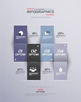 Minimale infographics. plat ontwerp.