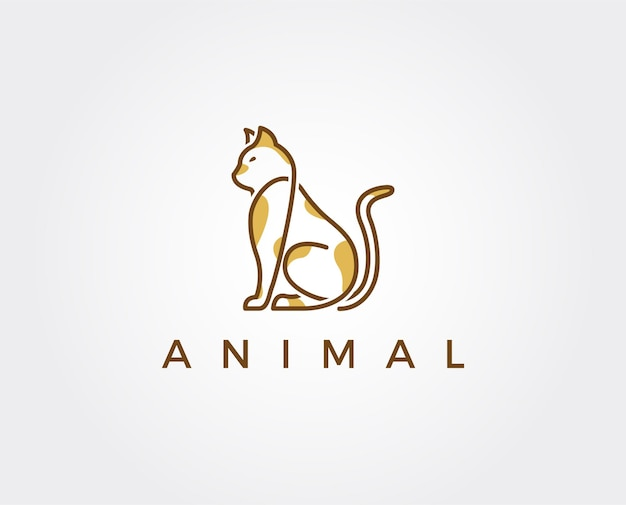 Minimale kat logo sjabloon
