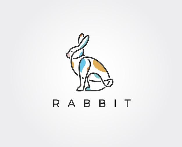 Minimale konijn logo sjabloon