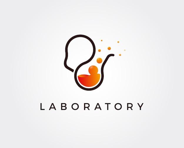 Minimale lab idee logo sjabloon illustratie
