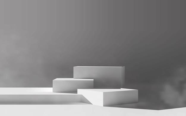 Minimale lege witte platformpodiumscène