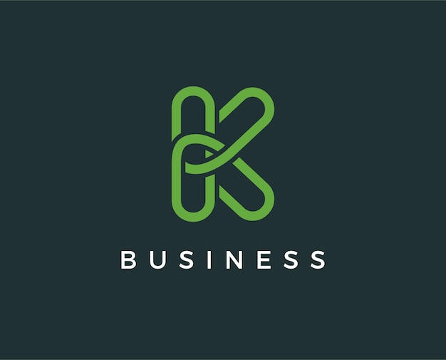 Minimale letter k logo sjabloon