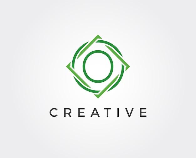 Minimale letter o logo-sjabloon