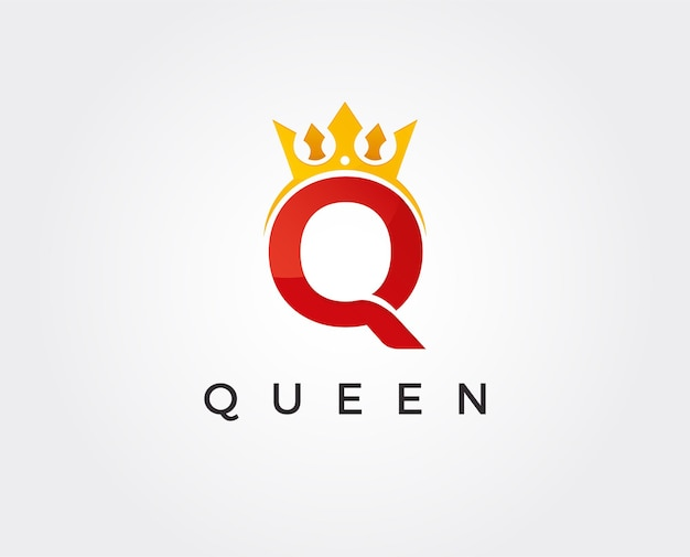 Minimale letter q logo sjabloon