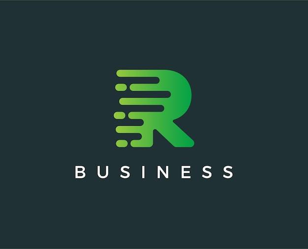 Minimale letter r logo sjabloon