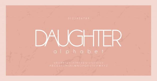 Minimale lettertype creatieve moderne minimale alfabet set