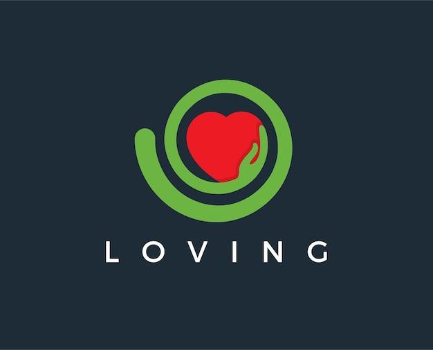 Minimale liefde logo sjabloon