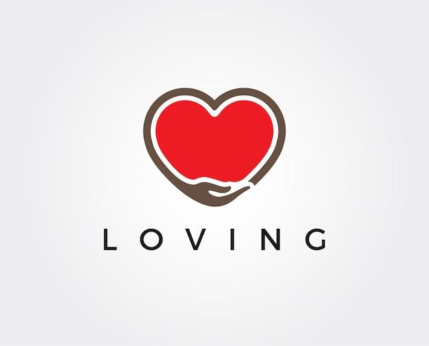 Minimale liefdevolle logo-sjabloon
