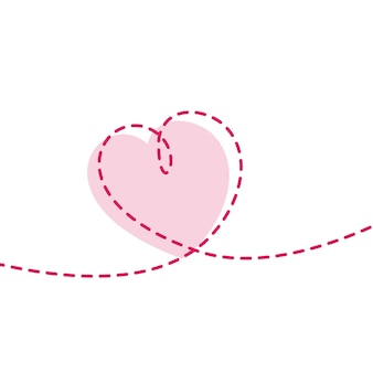 Minimale lijn hart achtergrond