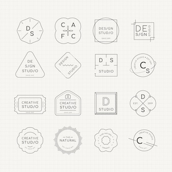 Minimale logo-badgeset