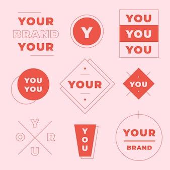 Minimale logo-collectie in twee kleuren