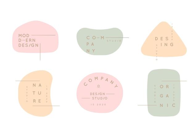 Minimale logo-collectie met pastelkleuren